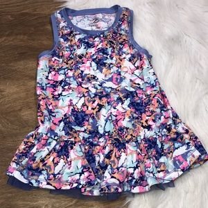 Energy zone Girls 5T Floral athleisure Dress